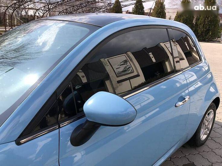 Fiat 500 2011 синий - фото 17