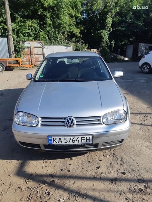 Volkswagen Golf 2003 серебристый - фото 7