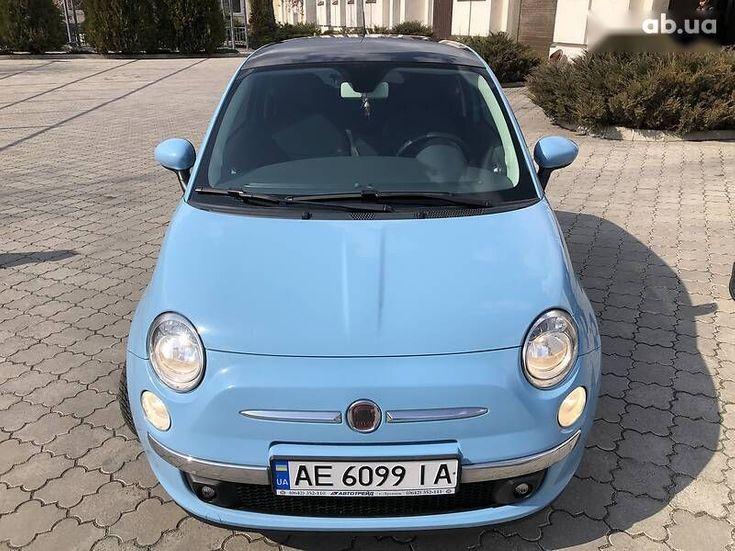 Fiat 500 2011 синий - фото 19