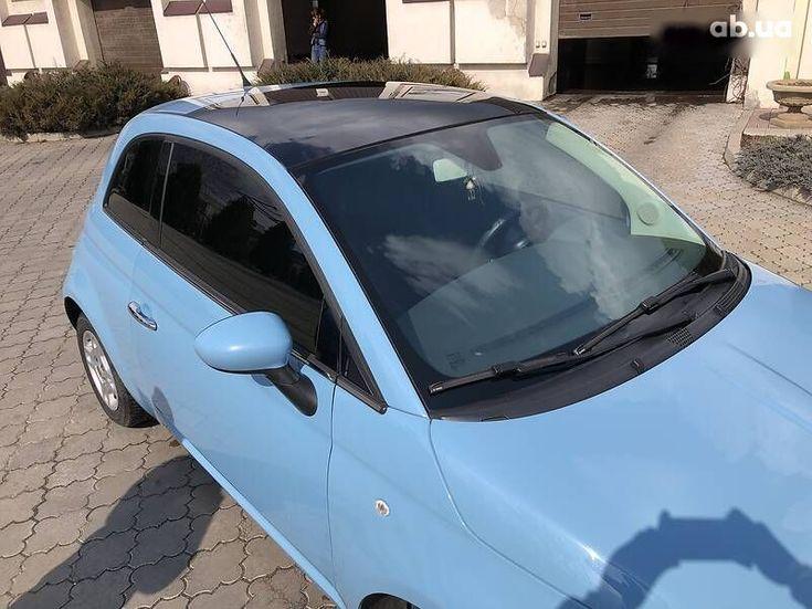 Fiat 500 2011 синий - фото 15