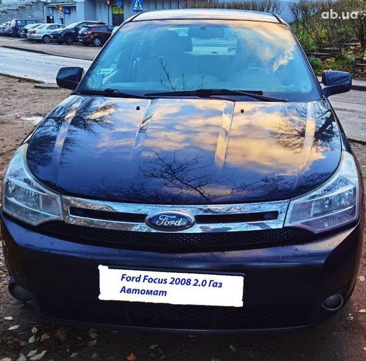 Ford Focus 2008 черный - фото 1