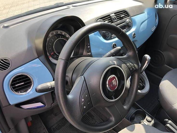 Fiat 500 2011 синий - фото 13