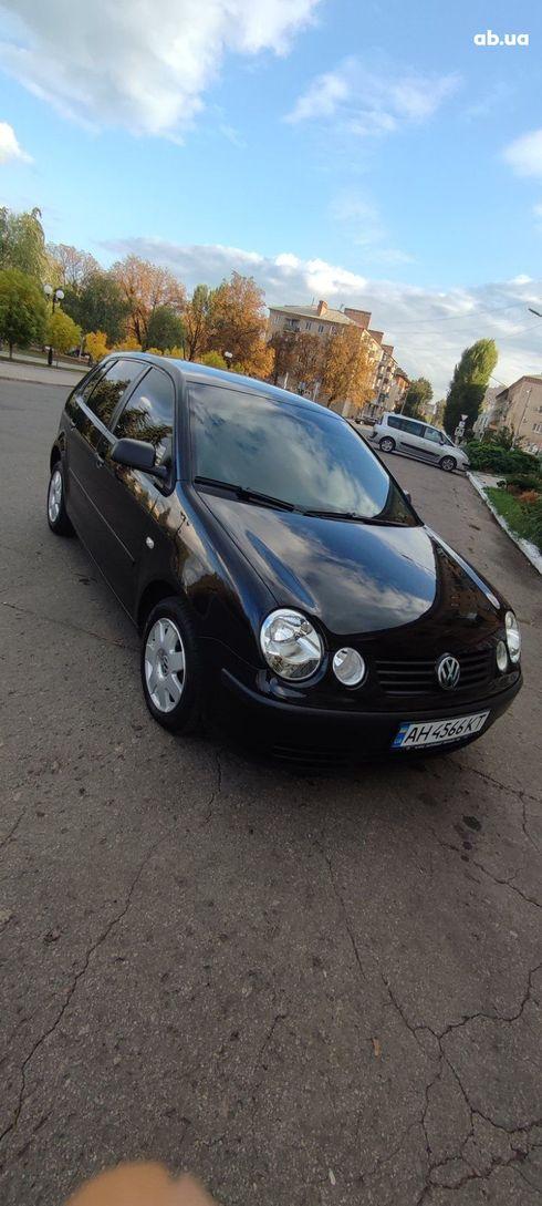 Volkswagen Polo 2002 черный - фото 1