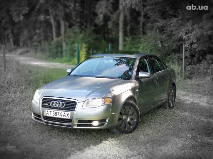 Audi A4 2007 серый - фото 1