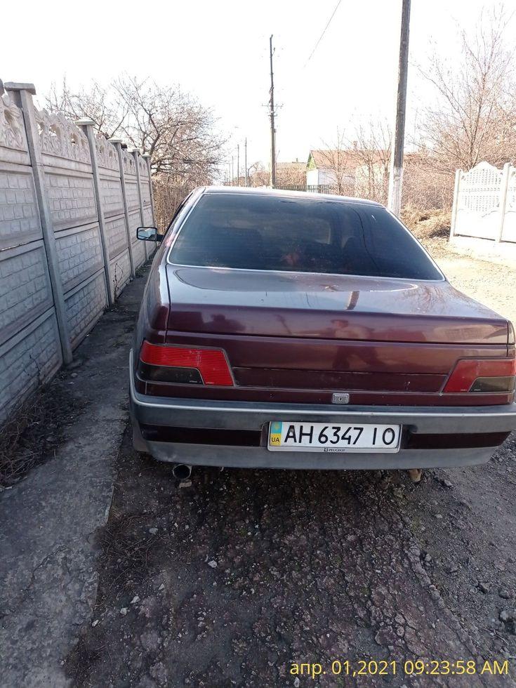 Peugeot 405 1993 вишневый - фото 5