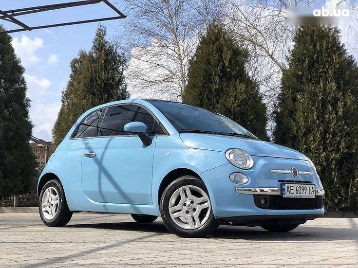 Fiat 500 2011 синий - фото 20