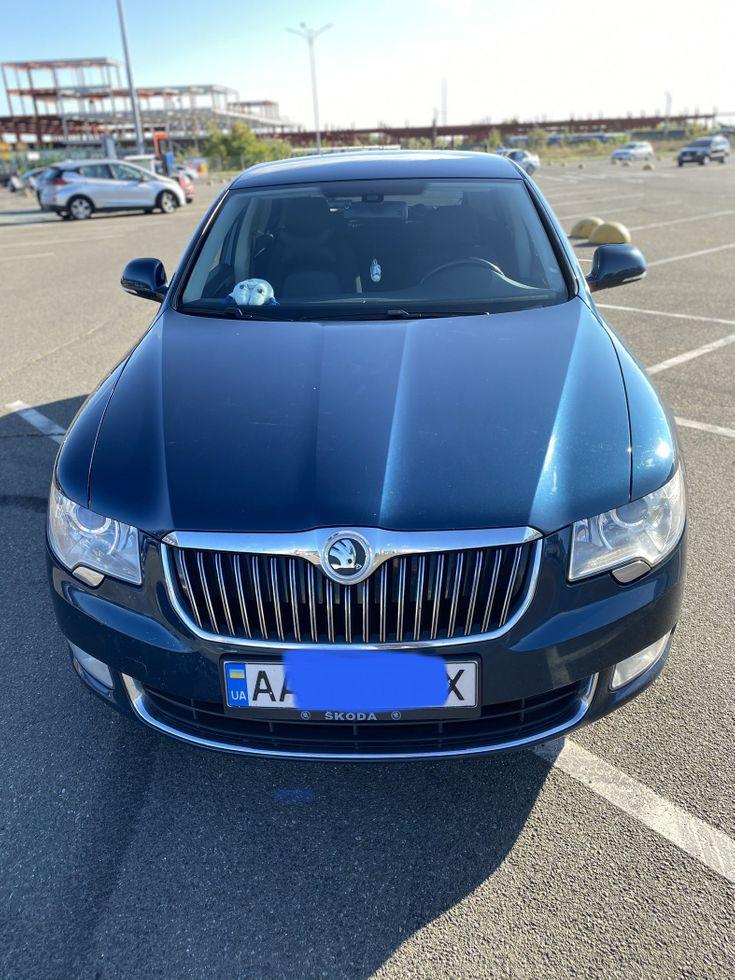 Skoda Superb 2012 синий - фото 4