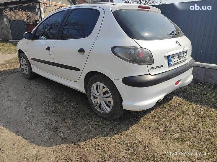 Peugeot 206 2008 белый - фото 3