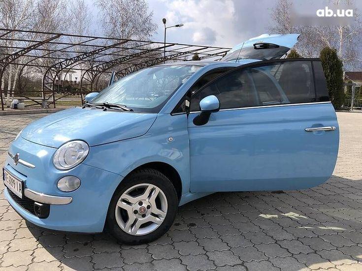 Fiat 500 2011 синий - фото 2