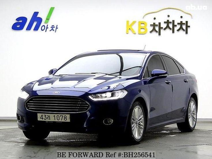 Ford Fusion 2014 синий - фото 1