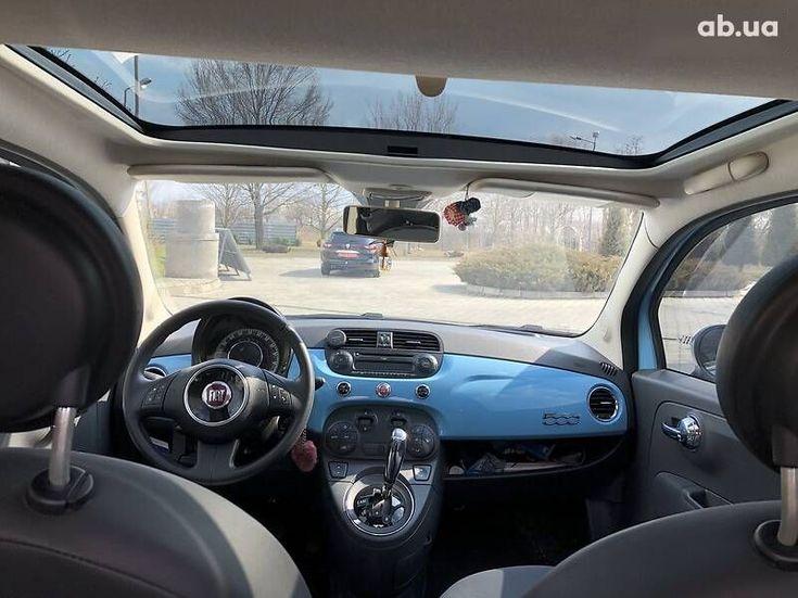 Fiat 500 2011 синий - фото 8