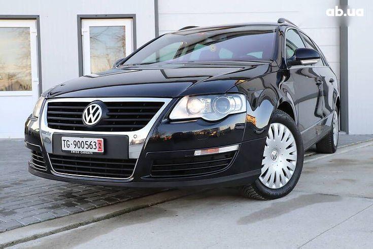 Volkswagen passat b6 2008 черный - фото 1