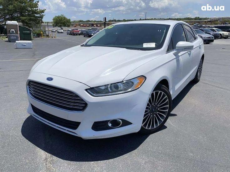 Ford Fusion 2014 белый - фото 1