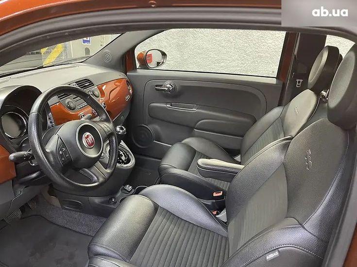 Fiat 500 2016 коричневый - фото 12