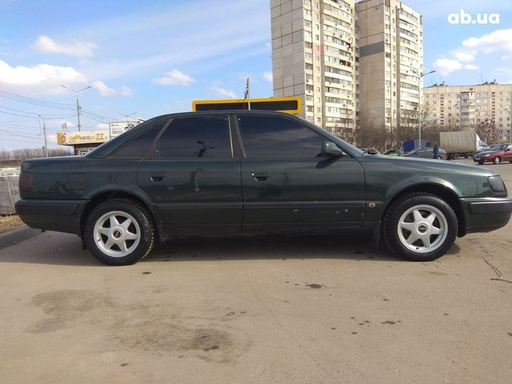 Audi 100 1991 зеленый - фото 4