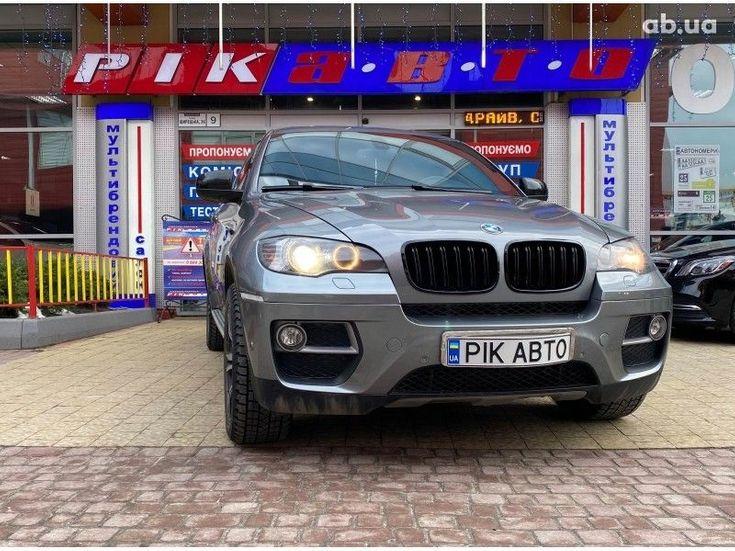 BMW X6 2014 серый - фото 1