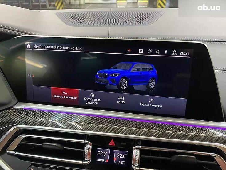 BMW X5 M 2020 синий - фото 6