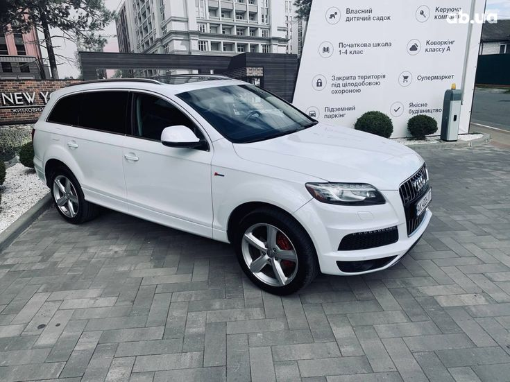 Audi Q7 2013 белый - фото 12