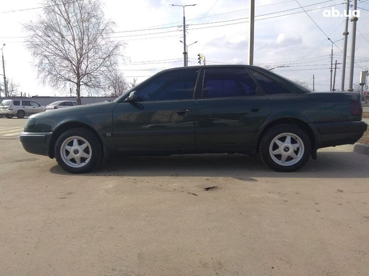 Audi 100 1991 зеленый - фото 5
