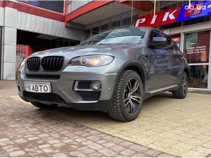 BMW X6 2014 серый - фото 2