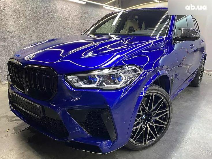 BMW X5 M 2020 синий - фото 14