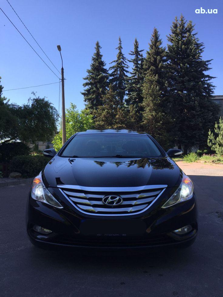 Hyundai Sonata 2011 черный - фото 1