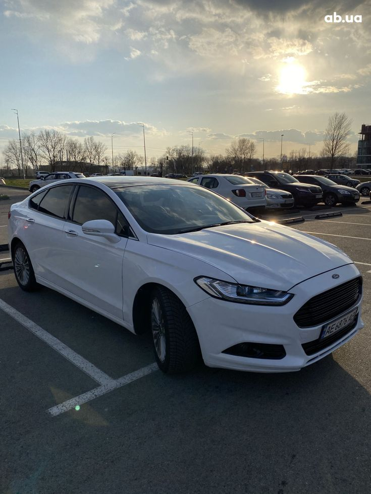 Ford Fusion 2014 белый - фото 10