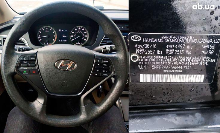 Hyundai Sonata 2016 черный - фото 14