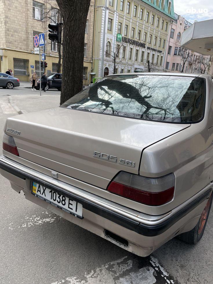 Peugeot 605 1993 бежевый - фото 4