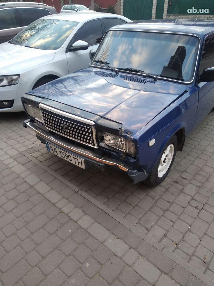 ВАЗ 2107 2005 синий - фото 1