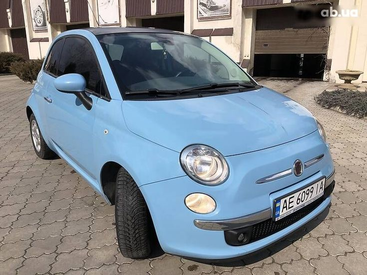 Fiat 500 2011 синий - фото 1