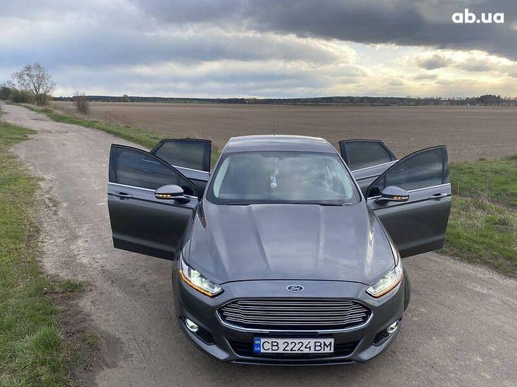 Ford Fusion 2014 серый - фото 12