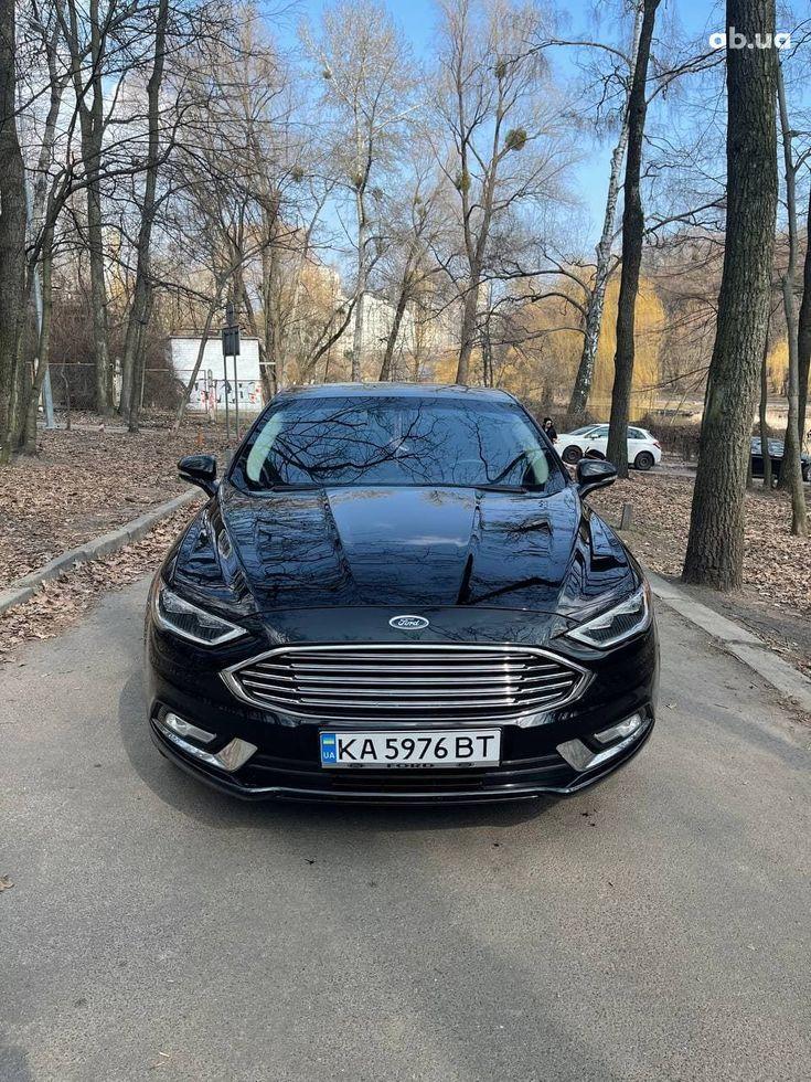 Ford Fusion 2017 черный - фото 1