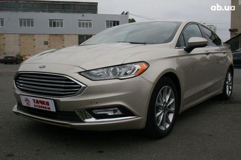 Ford Fusion 2017 серый - фото 1