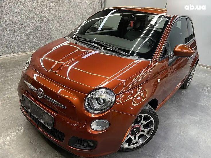 Fiat 500 2016 коричневый - фото 1