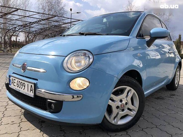 Fiat 500 2011 синий - фото 18
