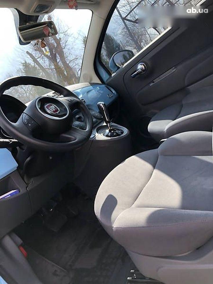 Fiat 500 2011 синий - фото 9