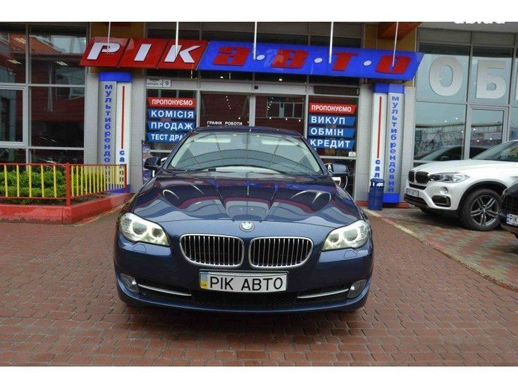 BMW 5 серия 2011 синий - фото 1