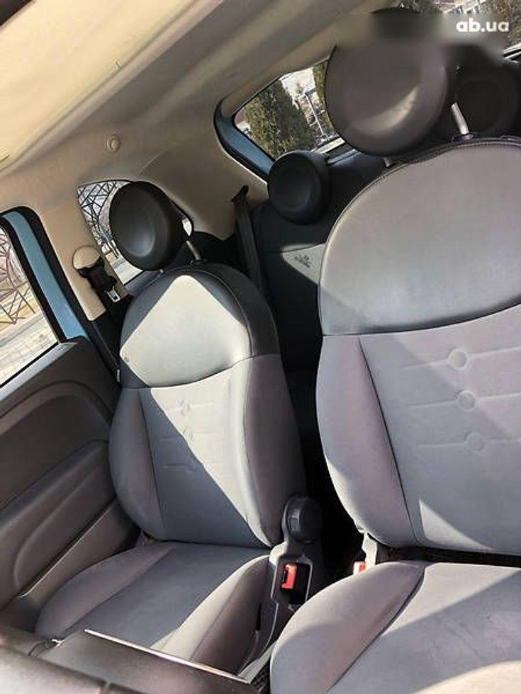Fiat 500 2011 синий - фото 10