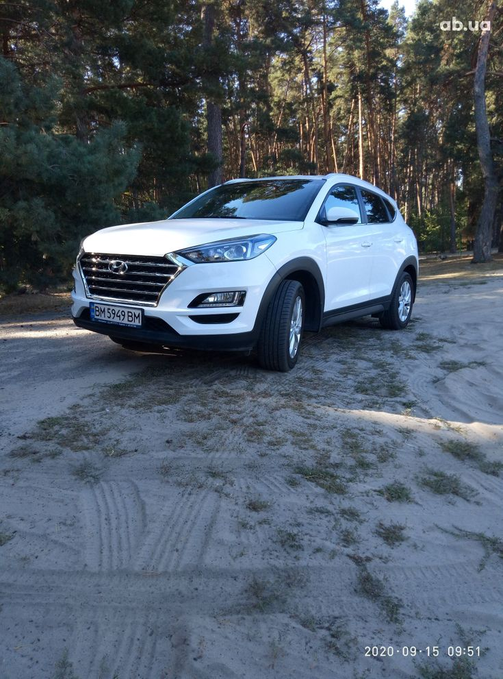 Hyundai Tucson 2019 белый - фото 1