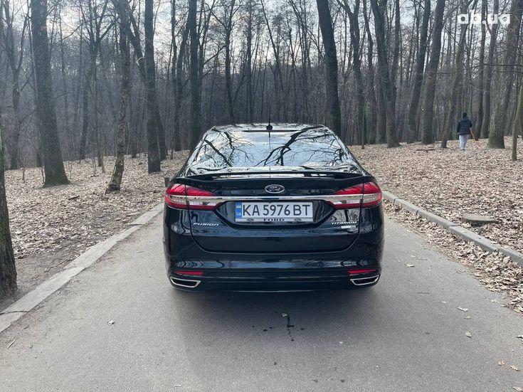 Ford Fusion 2017 черный - фото 2