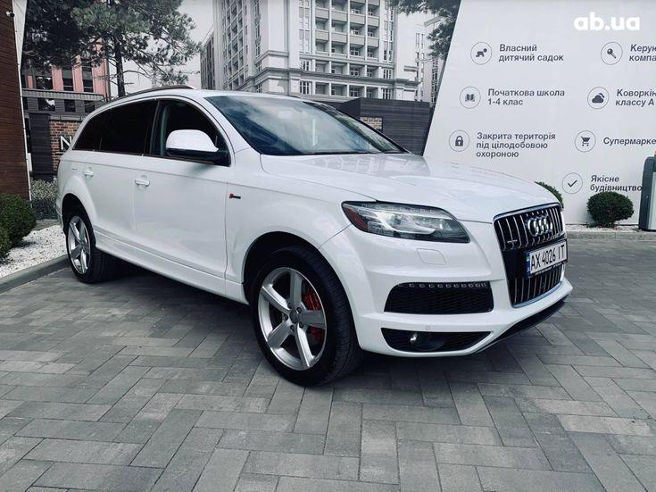 Audi Q7 2013 белый - фото 1