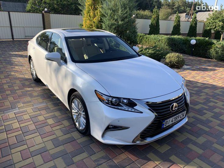 Lexus ES 2017 белый - фото 2