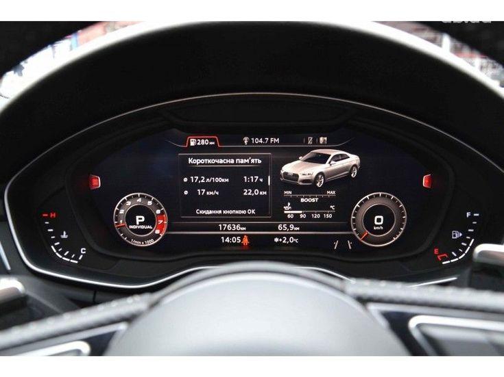 Audi RS 5 2018 серый - фото 11