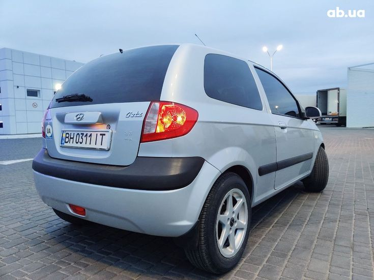 Hyundai Getz 2005 серый - фото 6