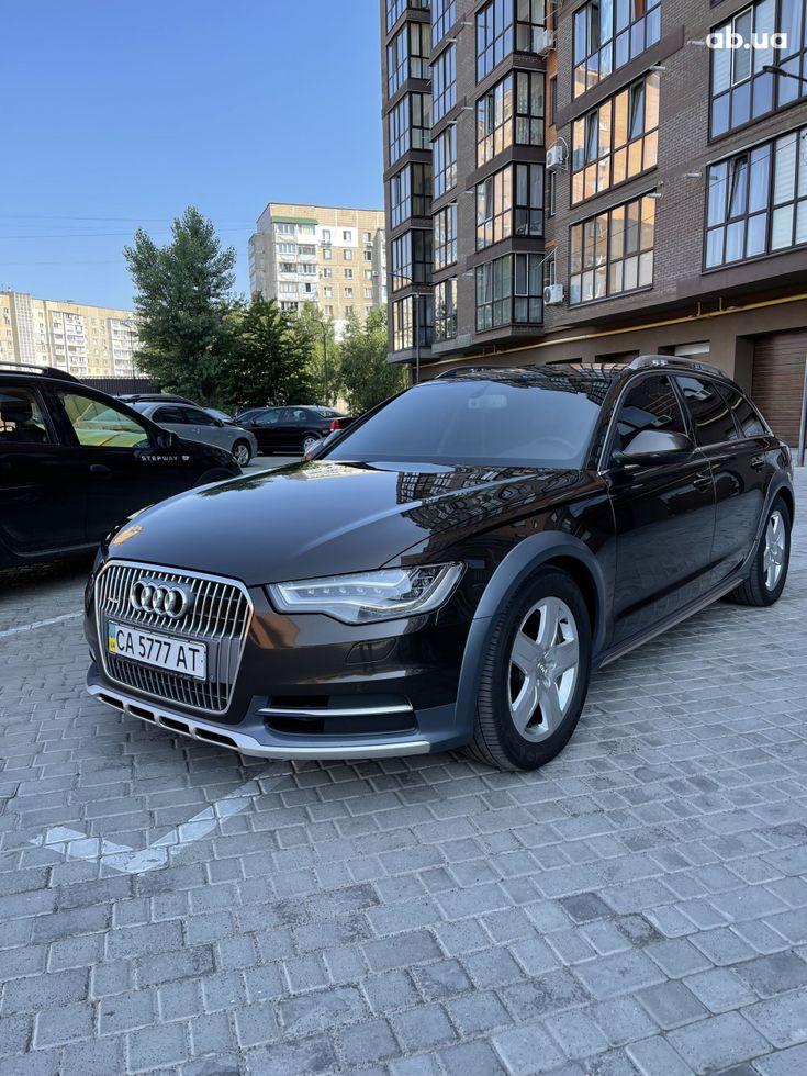 Audi a6 allroad 2013 коричневый - фото 1