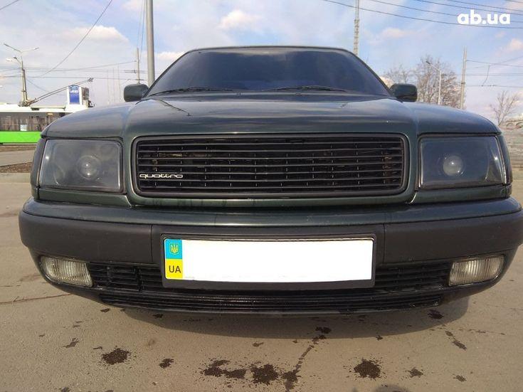 Audi 100 1991 зеленый - фото 2